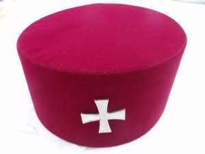 Knights Templar Cap With Cross